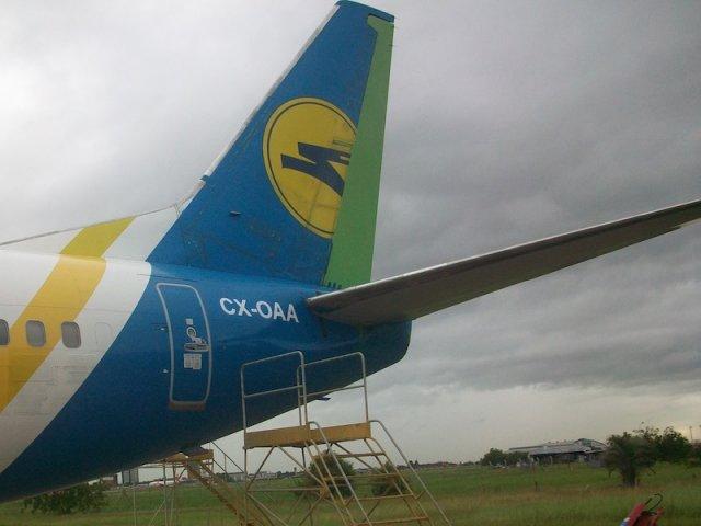 El primer avión de ALAS URUGUAY  en Porto Alegre