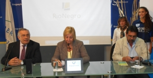 Intendente de Rio Negro, Omar Lafluf, Ministra de Turismo, Lilim Kechichin y Director de Turismo de Ro Negro, Nazario Pomi.