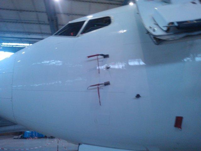 Este es el segundo avión de Alas Uruguay. Está en Ucrania