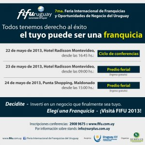 7ma. Feria Internacional de Franquicias del 22 al 24 de mayo