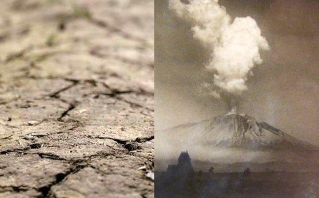 El Uruguay con ceniza volcánica y déficit hídrico