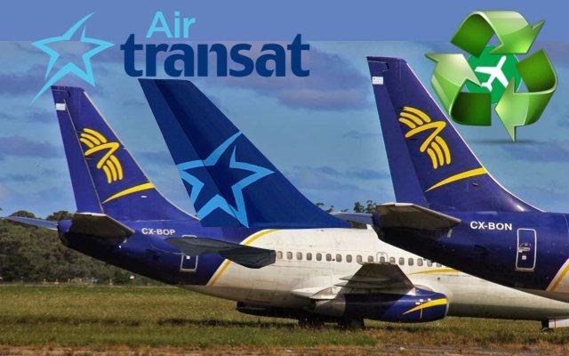 El reciclaje de aviones de Air Transat es un ejemplo a seguir